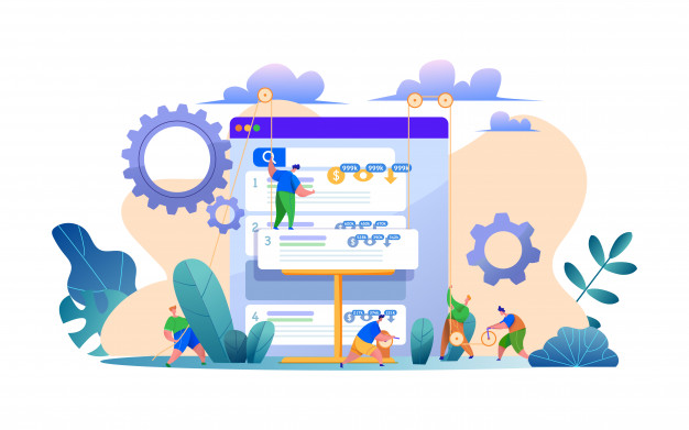 web-site-search-engine-optimization-concept-with-man-building-site-page-structure-as-builder-seo-services-concept-semantic-core-linkbuilding-page-concent-strategy-organic-trafic-growth_208581-15